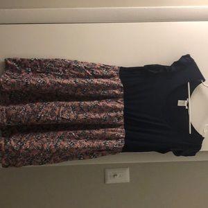 Large midi maternity dress